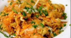 Яичница с морковью