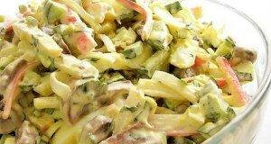 Крабовий салат з грибами